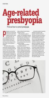 Age-related presbyopia